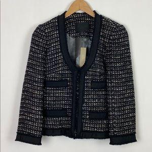 NWT J.Crew 8 Collection Tweed Blazer Metallic